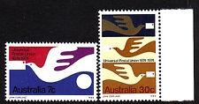 Australia Sc 597-98 Upu Cent. 1974 Vf Mnh Set