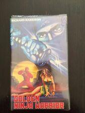 VHS Extrêmement rare Golden Ninja Warrior American Video neuve
