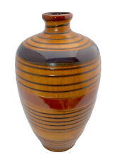 Brown Wood Grain Spiral Glaze Pottery Vase