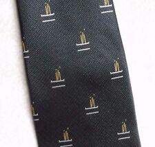 Vintage CRICKET Tie Mens Necktie Retro DAVE MACKAY