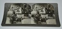 Antique C1915 Nurses & WWI Soldiers New York City Hospital Stereoview Photograph