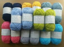 16 x 25g Balls The Art of Knitting Wool/Yarn (Assorted Colours) New