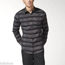 NWT~Adidas Originals STRIPES ON STRIPES Dress AOP SHIRT Button Down Top~Men sz L