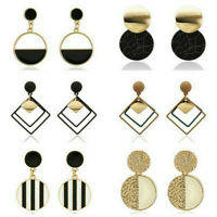 Sexy Women Statement Boho Geometric Big Pendant Ear Stud Dangle Drop Earrings