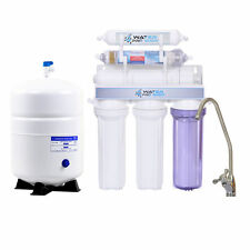 MADE IN USA ALKALINE/KDF REVERSE OSMOSIS WATER FILTER SYSTEMS 6 STAGE 100 GPD