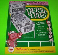 DERBY DAY Pinball FLYER Original Promo NOS Sheet 1967 Horse Racing Theme Artwork