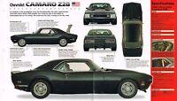 CHEVROLET CAMARO Z-28/Z28  SPEC SHEET/Brochure:1968,...