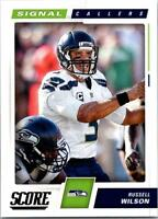 RUSSELL WILSON 2017 Score Signal Callers #27 ($0.75 MAX SHIP)