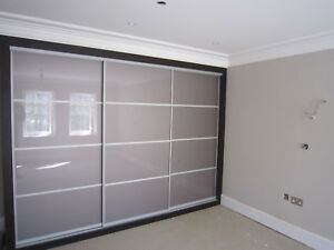 Sliding Wardrobe Mirror Gloss Panel Doors. Made To Measure. Custom Design.