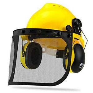 53880A Forestry Safety Helmet with Earmuffs Helmet, Face Shield, and Earmuffs