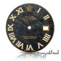 Diamond Roman Numeral Meteorite Dial Datejust II Rolex Mens 41mm - REAL DIAMONDS