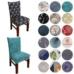 3D Universal Stretch Chair Covers Wedding Banquet Dining Room Seat Slipcovers