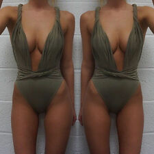 S Sexy Women Swimwear One Piece Swimsuit Monokini Push Up Padded Bikini Bathing
