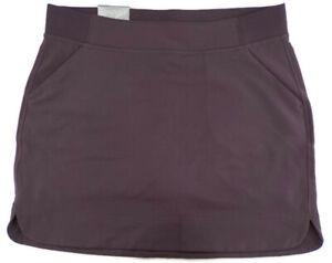 32 Degrees Cool Womens Skort SZ MorL 34 in Waist Plum Pockets Elastic Waistband
