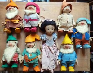 Vintage Snow White & the Seven Dwarfs, Set of 8, Made by Chad Valley (c1930)