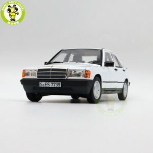 1/18 Norev 183820 Benz 190E W201 Diecast Model Toys Cars Boys Gilrs Gifts White