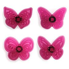Jem Butterfly Lace Plastic Cutter Set 4 Pieces - Fondant Gumpaste