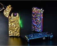Chinese Dragon Relief Double Arc Usb Lighter Plasma Windproof Electric Lighter