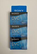 Sony DVC Digital Video Cassette Tape Mini DV 60min Camcorder DVM60PRR 3-pack