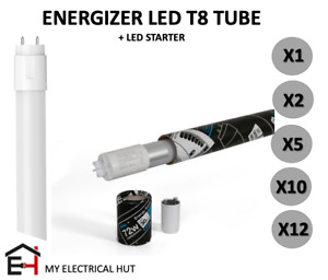 Energizer T8 LED Fluorescent Replacement Tube 2FT 4FT 5FT 6FT Coolwhite Daylight