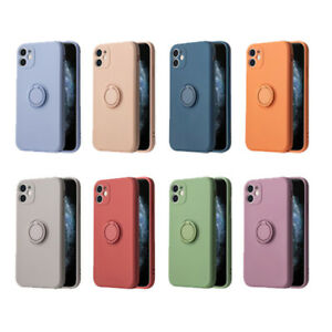 Shockproof Soft TPU Ring Holder Stand Case Cover For iPhone 11 12 Pro Max XR XS