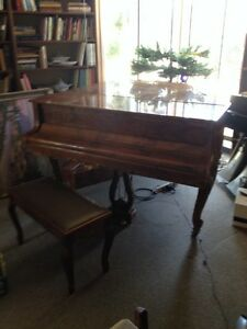 """Horugel Victorian Style Grand Piano 5' 8""""  Player Midi Computer File Plays"""