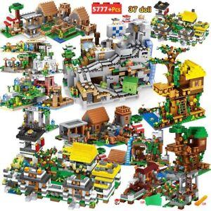 Village miniature blocs de construction compatibles grotte montagne figurines