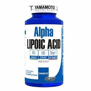 Alpha LIPOIC ACID di YAMAMOTO NUTRITION 100 caps ACIDO ALFA LIPOICO ALA