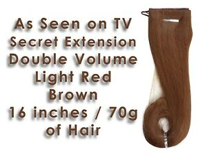 Secret Extensions DOUBLE VOLUME Light Red Brown Color #27R Hair Accessory