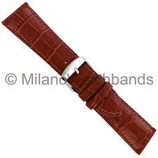 22mm Hadley Roma Tan Alligator Grain Genuine Leather Mens Watch Band Reg MS898