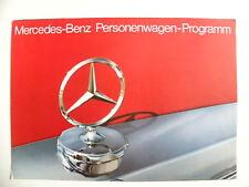 Brochure MERCEDES-BENZ Personenwagen-Programm en allemand