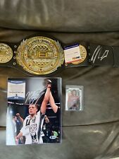 Nick And Nate Diaz UFC Signed Autograph Lot Belt, Photo, Card COA
