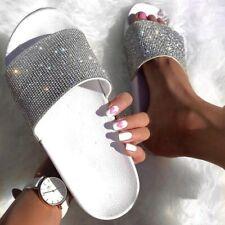 Sandalias Zapatillas De Mujer Con Diamantes De Imitación Chanclas Verano Sandals