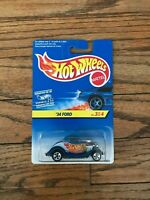 NEW Vtg 1996 Hot Wheels Diecast 1:64, # 3 of 4 '34 Ford, Blue Hot Rod Car
