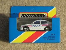 Matchbox Die-cast MB8 Vauxhall Astra GTE OPEL Kadett Police Car White 1981 MISB