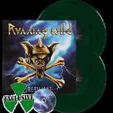 RUNNING WILD RESILIENT 2LP GREEN VINYL 300 COPIES + CD FACTORY SEALED