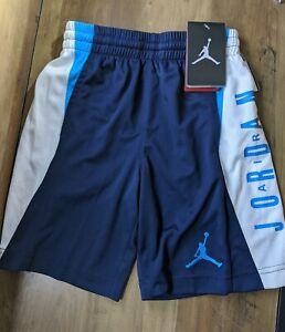 NWT Nike Air Jordan Dri-Fit Toddler Boys Shorts SZ 6 Navy Blue/White