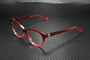 GUCCI GG0373O 005 Cat Eye Red Fuchsia Red Demo Lens 52 mm Women's Eyeglasses