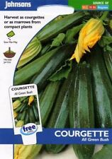 Johnsons Pictorial Pack - Vegetable - Courgette All Green Bush - 20 Seeds