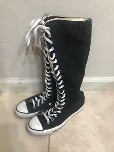Converse XX hi black knee high boots Unisex Mens 8/Womens 10