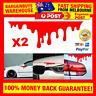 2pcs Red Blood Bleeding Car Motorbike Stickers Auto Tail Light Decals Sticker