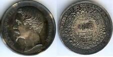 Médaille de table - PARIS 1869 produits agricoles argent main 37 grammes d=42mm