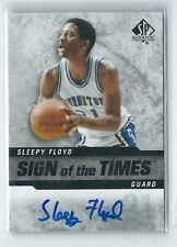 2014-15 SP Authentic Eric Sleepy Floyd Sign of the Times AUTO GEORGETOWN