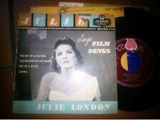 """7""""  EP JULIE LONDON SINGS FILM SONGS REU 1076 ITALY COVER GOOD VINYL EX"""