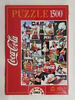 Puzzle 1500 pezzi, Coca Cola collezione vintage, EDUCA, confezione integra,2001