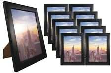 Frame Amo 5x7 Black Wood Picture Frame, Glass Front, Wall or Table 1, 3, 10 PACK
