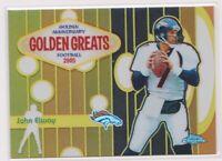 2005  JOHN ELWAY Topps Chrome Golden Greats Refractor Card # 073/100 - BRONCOS