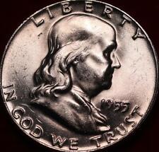 Uncirculated 1955 Philadelphia Mint Silver Franklin Half