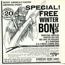 1968 small Print Ad Numrich Arms Hopkins & Allen Minuteman Muzzle Loading Rifle
