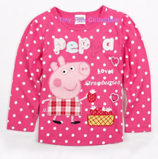 NEW with tags girls peppa pig long sleeve strawberry top polka dot size 5